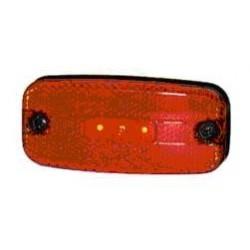 Fanale LED 24V ROSSO, 2 led centriali