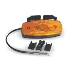 Fanale Laterale LED 12/24V ARANCIO CON SUPPORTO , 3 led centrali