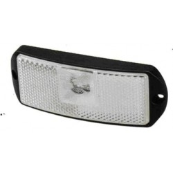 Fanale LED BIANCO 24V BASE PIANA , 1 led centrale