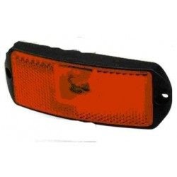 Fanale LED ROSSO 24V, 1 led laterale c/filo BASE PIANA