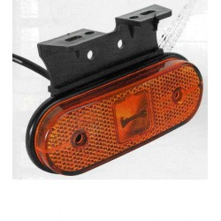 Fanale laterale ARANCIO LED UNIPOINT C/STAFFA 90°, 2 led laterale
