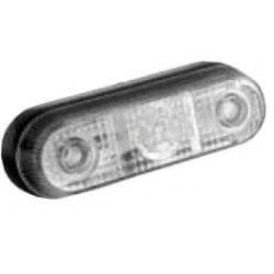 Fanale piccolo LED 24V luce effetto ghiaccio, 3 led centrali
