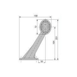 Fanale lungo Ovale verticale LED 24V, 8 led