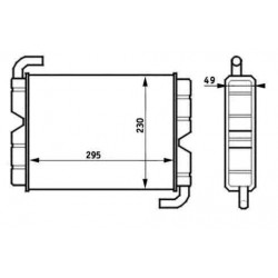 Radiator heating Scania 141-142-143