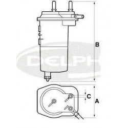 Filtro gasolio Renault Clio/Kangoo/Trafic Nissan Almera/Micra