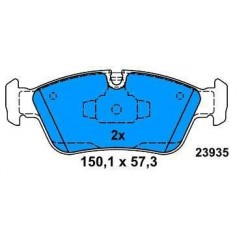 Front brake pads BMW S1 120 d from 2004 BMW S3 316-318-320 from 2005