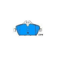 FRONT BRAKE PADS BMW MINI ONE from 2007 S1 116-118-120