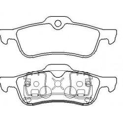 Rear brake pads MINI ONE without warning cut