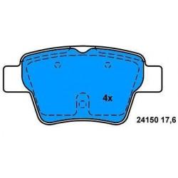 Rear brake pads CITROEN C4