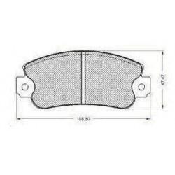 Front brake pads FIAT UNO /PANDA/Y10