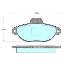 Front brake pads FIAT PUNTO 93 BZ NUOVA 500 WITH WARNING