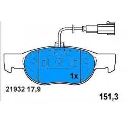 Front brake pads FIAT BRAVO/A-MAREA 1.2-1.4 16V ENGINES