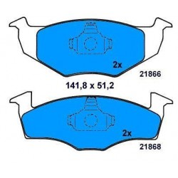 Front Brake pads POLO/GOLF III /VENTO/IBIZA