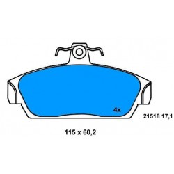 Front Brake pads ROVER 100-111 FROM 90 TO 98