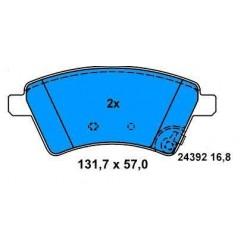 Front brake pads FIAT SEDICI