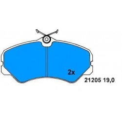 Front brake pads DUCATO 2.5D-2.5 TD since 1988