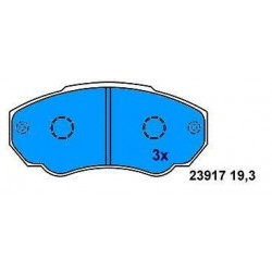 Front brake pads DUCATO 1.9-2.5 TD since 1994
