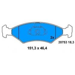 Front brake pads FORD FIESTA IV 1.4 16v SINCE 95,PUMA–SIERRA-ESCORT
