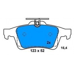 Rear Brake pads FOCUS II SERIES FOCUS C-MAX