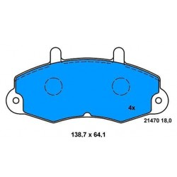 Front brake pads TRANSIT FROM 91 TO 2000