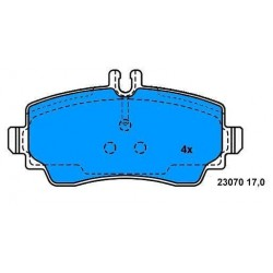 Front Brake pads CLASS A FROM 98 TO 2004