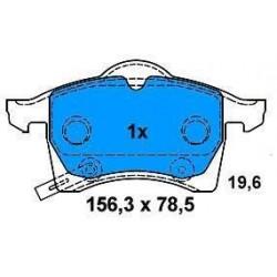 Front brake pads ASTRA G 98/ZAFIRA 1.6-1.8 16v-2.0-2.2 DTI