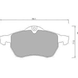 Front brake pads OPEL ASTRA H Z19 DTL OPEL MERIVA