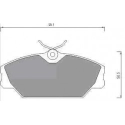 Front Brake pads LAGUNA 1.6-18 from 93 MEGANE/SCENIC 1.9 from 97