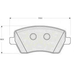 Front Brake pads MODUS 2004 CLIO 2005 MICRA 2003