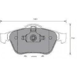 Front Brake pads LAGUNA II 1.9-2.2 dCI SCENIC