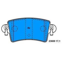 Rear Brake pads MASTER/MOVANO