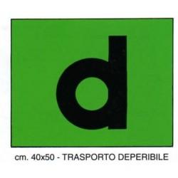 LETTERA D DEPERIBILE