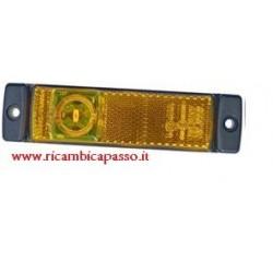 Fanale laterale LED ARANCIO 24V con 1 led laterali