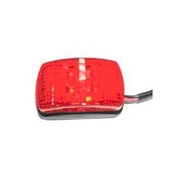 Fanale 4 LED ROSSO ROSSI C/BASE NERA
