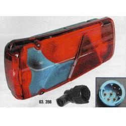 Plastica Fanalino posteriore Con triangolo Parzialmente BLU