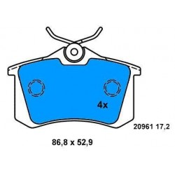 Rear Brake pads GALAXI 1.9 TD GOLF IV- V