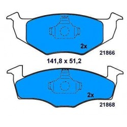 Front Brake pads GOLF III/VENTO/TOLEDO/CORDOBA
