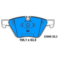 Front brake pads BMW S1 since 2004