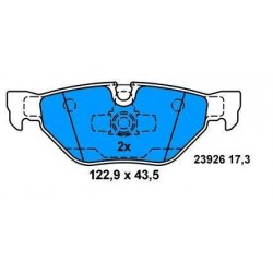 Rear brake pads BMW S1 from 2004 BMW S3 from 2005