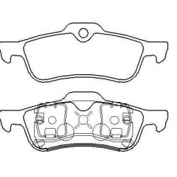 Rear brake pads MINI ONE with warning cut