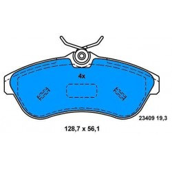 CITROEN C2/C3 front brake pads since 2002 (big)