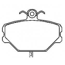 Front brake pads FIAT TIPO 1.4-1.6 BZ