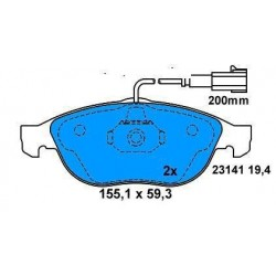 Front brake pads ALFA 156 BZ