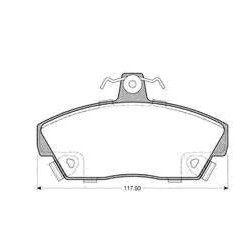 Front Brake pads ROVER 200-400 FROM 90 TO 95