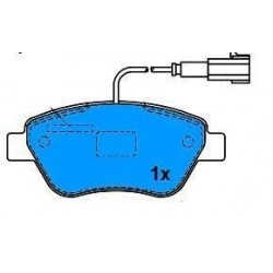 Front brake pads STILO BENZ. 1.2-1.4-1.6 IDEA 1.3-PUNTO-GR.PUNTO