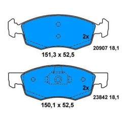 Front brake pads DOBLO FROM 2000