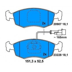 Front brake pads PALIO With ventilated discs