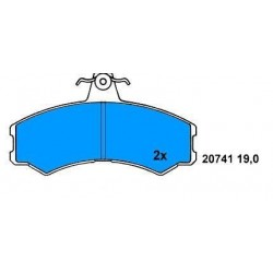 Front brake pads DUCATO 82