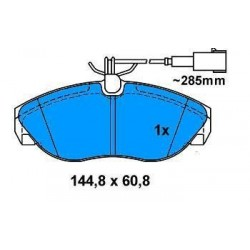 Front brake pads DUCATO 2.8 JTD since 2000 (Small)