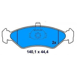 Front brake pads FORD FIESTA III-IV SINCE 89 1.4.-18 FORD KA SINCE 96